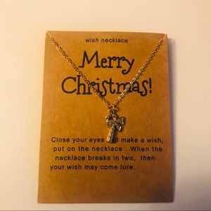 Jewelry - Christmas candy cane wish necklace